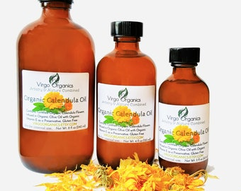 Organic Calendula Oil / Apply Directly onto Skin for OR add to Your Favorite Formula! LUXURY for the Skin, Hair, Nails & Lips!