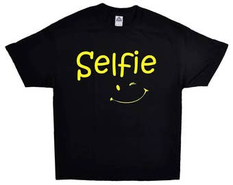 Lets Take A Selfie Funny T-shirt With A Wink ;) 100% Cotton Tee