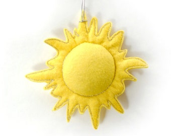 Felt sun ornament nursery decor valentines day gift home decoration for kids room Housewarming Baby shower gift for her for him gift idea