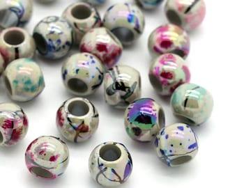 Metallic Wood Hair Beads