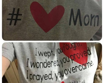 Heart mom shirt