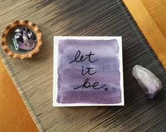 SOLD // let it be