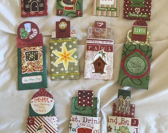 Christmas Gift Tag Pouches