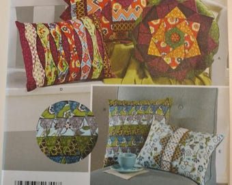 Simplicity Pattern 1340 Decorative Quilted Pillows Cushions