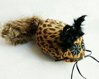 Catnip Cat Toy Tiger Mouse Handmade. Toys for cats and kittens. Toys for cats with catnip.