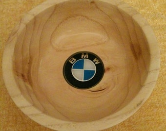 "Handmade ""BMW' pecan bowl"