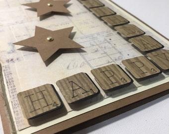 Scrabble Birthday Card