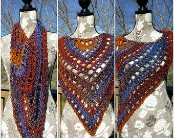 Mountain Range Crochet Shawlette