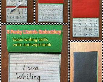 Write & Wipe pretty writing book, Learn through Play, alphabet, numbers,  pattern writing.
