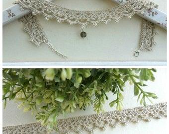 crocheted choker necklace