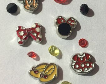 Minnie Mouse Floating Charm Set