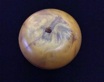 "One Large Phenolic Resin ""African Amber"" Bead"