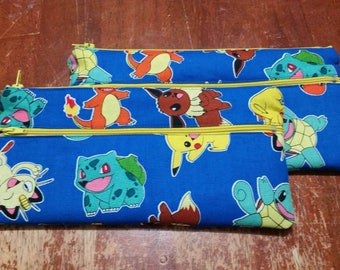 Pokemon Double Pocketed Pencil Case