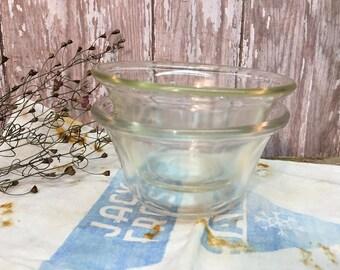 Vintage Pyrex Custard Cups/Set of Two/Clear Glass/Ramekins