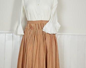 Vintage Velvet Trim Skirt