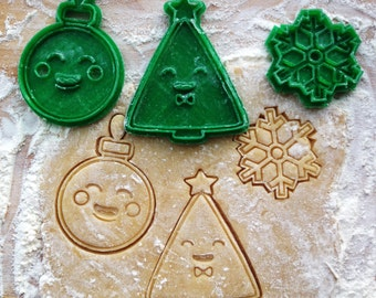 Snowflake cookie cutter. Christmas tree  cookie cutter. Ornament cookie cutter. Christmas cookie cutters set of 3