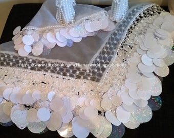 detailed bride white scarf ( yalekhta)