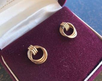 Sale!! Exquisite 14K Door Knocker Earrings