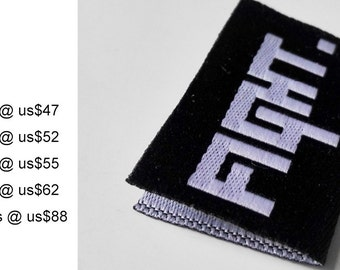 Custom woven label, triangle folded fabric cloth labels, center fold woven labels for clothing, clothing label printed, label sew on