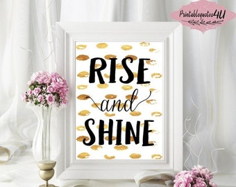 Rise And Shine Sign Etsy