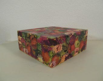 Wooden box autumn flowers 1
