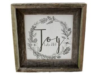 Christmas Decorations/ Joy/ Luke/ Custom Bible Verse Art/ Scripture Wall Art