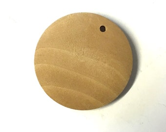 10, 3cm wooden pendants, wood pendants, round unfinished light wood discs, wood painting, wood burning, craft supplies, jewellery supplies