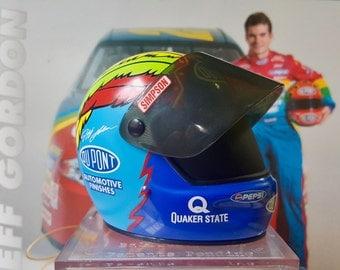 Jeff Gordon Miniature NASCAR Helmet, Simpson Signature Edition, 1997 JG Motorsports, Inc, DuPont, NASCAR Collectible