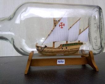 Ship in a bottle Nina (Niña)