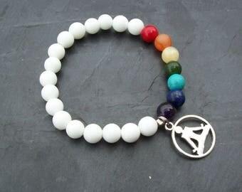 7 Chakra Bracelet, Yoga Energy Bracelet, Meditation Bracelet, Mens bracelet, Mala Bracelet, Yoga bracelet, Gift for him, energy stones