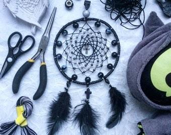 Gothic Cross Black Dream Catcher