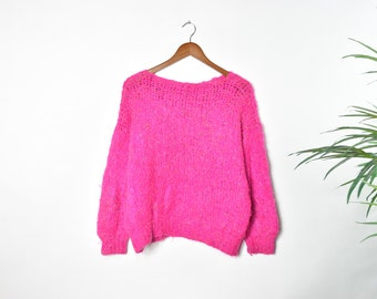 Vintage Pink Flecked Knitted Sweater