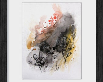 Poppies Abstract - Original Painting