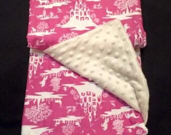 CUSTOM MADE Fairy Toile Duvet Cover or Blanket-Fairies- Princess bedding- King-Queen-Twin Duvet Covers-Bedding- Blanket