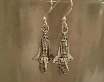 Space Shuttle Earrings - Rocket Ship Earrings, Astronaut Jewelry, Space Lovers