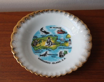 Vintage Westminster  Australia vintage souvenir pin dish Kangaroo Island
