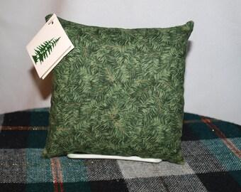 Green Bough print Balsam filled pillow