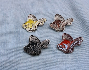 Four Pack of Butterfly Goldfish Enamel Pins (Pick 4)
