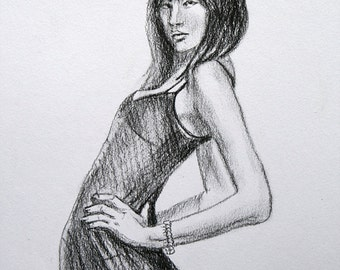 Original drawing| Charcoal Pencil | Posing