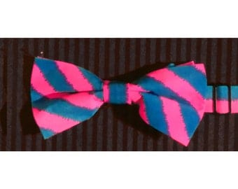 Pink and Blue Bow Tie