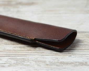 Sale 20% OFF ! Leather Pen Case, Leather Pen Holder, Single Pen Holder, Handmade Leather Pen Pouch