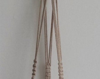 Macrame Plant Hanger, Cotton Rope Natural macrame, Pot plant holder, Plant hanging, Indoor planter, Macrame hanging flowerpot, Cotton cord