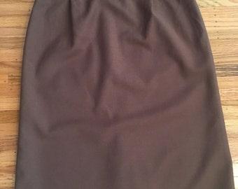 Vintage perfect brown pencil skirt
