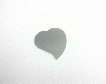 Sterling Silver Heart Stamping Blank - Heart Stamping Blank - Jewelry Stamping Blank - Sterling Silver Heart Blank for Stamping
