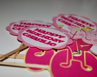 Peppa Pig Birthday, Peppa Pig Cupcake Toppers, Peppa Pig Party, Peppa Pig Decor, Peppa Pig Toppers