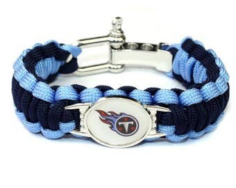 Tennessee Titans Paracord Survival Bracelet with Adjustable Shackle