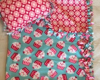 Cupcake Toddler Blanket & Pillow