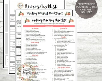Wedding Planner   Floral Planning Worksheets, Printable Planning PDFs,  Bouquet U0026 Floral Arrangement Planning