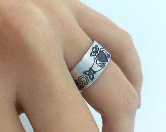 Sterling Silver Claddagh Ring, Irish Wedding Ring, Celtic Band Ring, Wedding Ring, Engagement Ring, Friendship Ring, Claddagh Celtic Ring