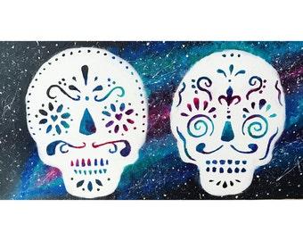 Galaxy Sugar Skulls